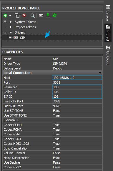 Set up the Mobotix T24/T25 SIP server / Archive: i3 Pro